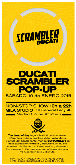scrambler ducati pop-up en madrid